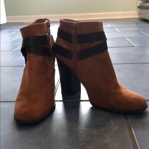 Express Suede Brown Boots with Leather Wrap 9